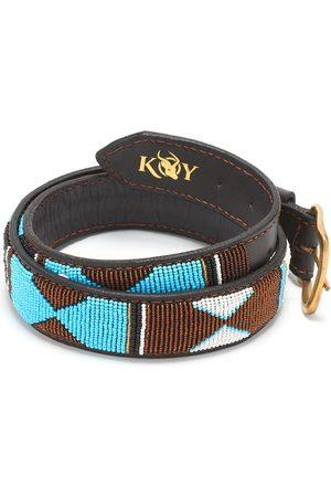 Men Belts - Men's Low-Impact Brass Beaded Belt - Mwezi 34in KOY Clothing