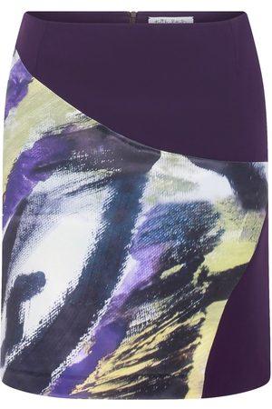Women Printed Skirts - Women's Artisanal Purple Signature Print Detail Mini Skirt Small kith & kin