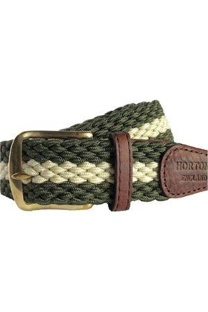 Men Belts - Men's Non-Toxic Dyes Green Brass Gresham Belt XL Hortons England