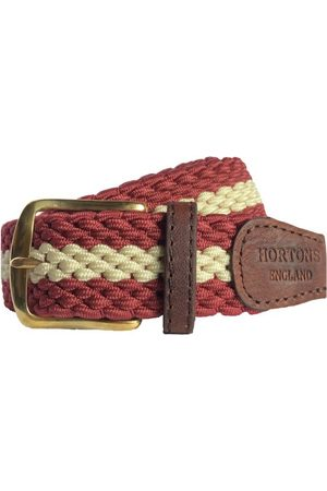 Men's Non-Toxic Dyes Red Brass Gresham Belt XL Hortons England