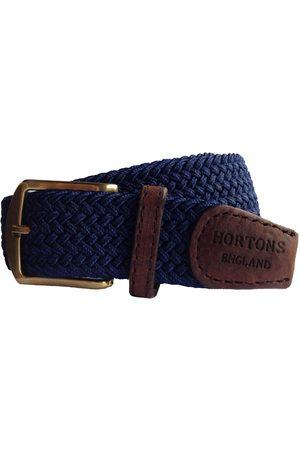 Men Belts - Men's Non-Toxic Dyes Blue Brass Charlbury Belt Small Hortons England