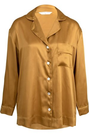 Women's Low-Impact Amber Cotton Mother Of Pearl Pyjama Shirt Small Wallace Cotton
