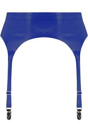 Women Underwear Accessories - Women's Artisanal Blue Latex Suspender Large Elissa Poppy