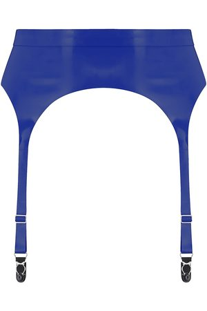 Women's Artisanal Blue Latex Suspender XS Elissa Poppy