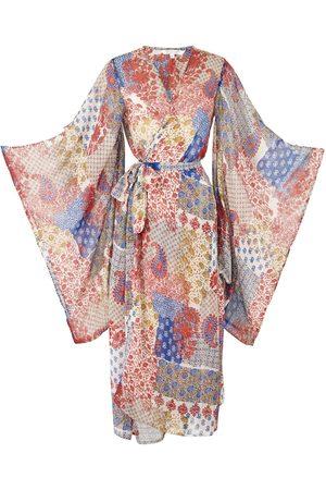 Women's Artisanal Blue Baez Kimono Large Jennafer Grace