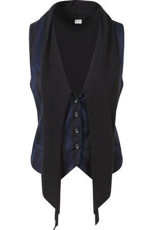 Women's Organic Black Cotton Cambridge Navy & Waistcoat Large Aqua & Rock
