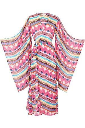 Women's Artisanal Pink/Purple Azucar Kimono XL Jennafer Grace