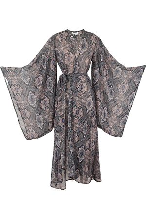 Women Kimonos - Women's Artisanal Black Zelda Kimono Medium Jennafer Grace