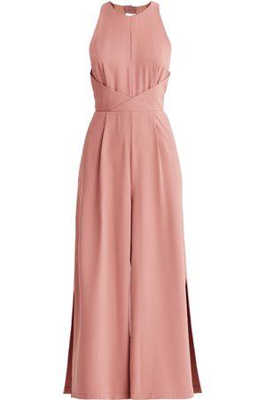 Women's Non-Toxic Dyes Blush Detailed Waist Halterneck Jumpsuit In XXS PAISIE