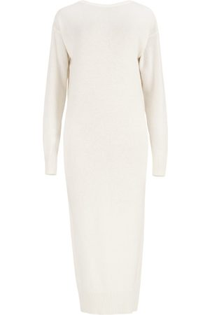 Women's Artisanal White Wool Lungo Sweater Dress S/M SALANIDA