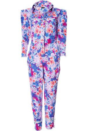 Women's Artisanal Pink Cotton Puff-Sleeve Jumpsuit XS L2R THE LABEL