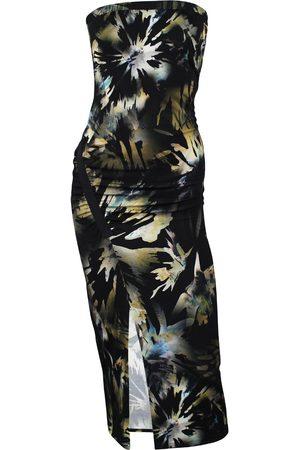Women's Artisanal Cotton Flip Side Printed Bamboo Jersey Bandeau Dress Large Me & Thee