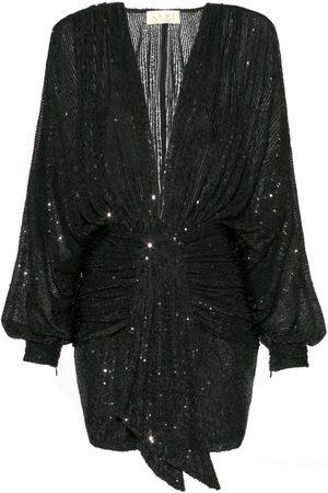 Women's Black Modal Kaia Raven Dress Medium Aggi