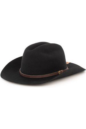 Men Hats - Men's Artisanal Black Cotton Cowboy - Fine Wool Hat Large Elegancia Tropical Hats