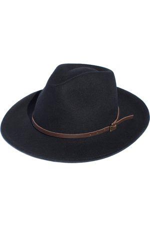 Men Hats - Men's Artisanal Black Cotton Rancher - Festival Style Fine Wool Hat XL Elegancia Tropical Hats