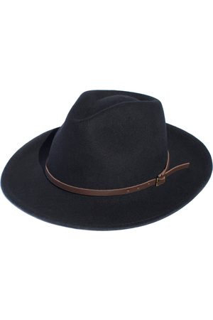 Men's Artisanal Black Cotton Rancher - Festival Style Fine Wool Hat Small Elegancia Tropical Hats