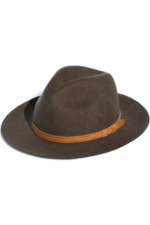 Men's Artisanal Green Cotton Rancher - Festival Style Fine Wool Hat Large Elegancia Tropical Hats