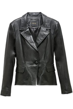 Women Leather Jackets - Women's Recycled Black Leather Bianca Blazer Small AS by DF