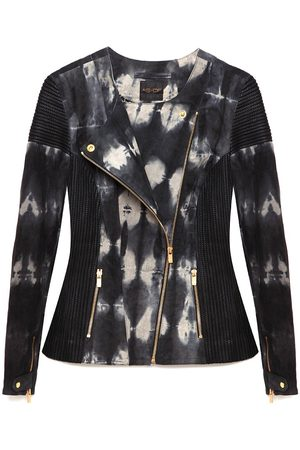 Women's Recycled Amber Silk Leather Jacket Large AS by DF