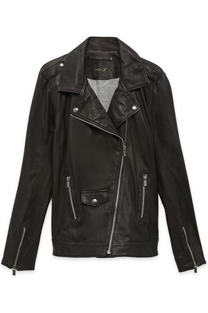 Women Leather Jackets - Women's Recycled Black Leather Cult Jacket In Medium AS by DF