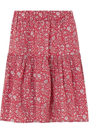 Women's Organic Red Calista Skirt With Lenzing™ Ecovero™ - Floral Print XS Baukjen