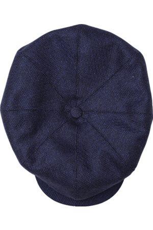 Men's Blue Cotton & sons The London Baker Boy Hat- Indigo Large & SONS Trading Co