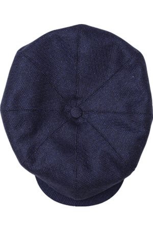 Men's Blue Cotton & sons The London Baker Boy Hat- Indigo XXL & SONS Trading Co