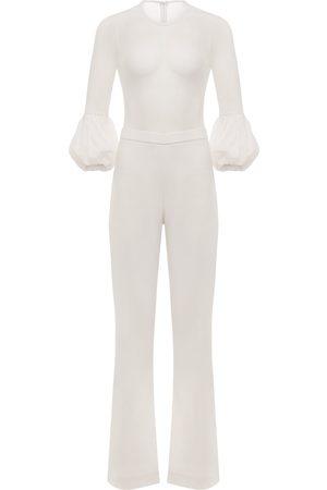 Women's White Shane Wide Leg Jumpsuit Medium Fifth & Welshire