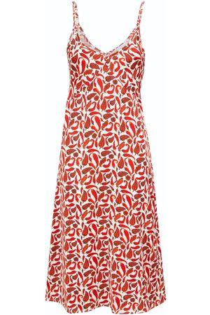 Women Casual Dresses - Women's Red Silk Chilli Slip Dress XL McIndoe Design