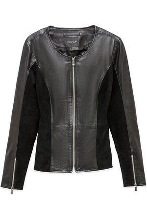 Women Leather Jackets - Women's Recycled Black Leather The Bond Girl Jacket Medium AS by DF