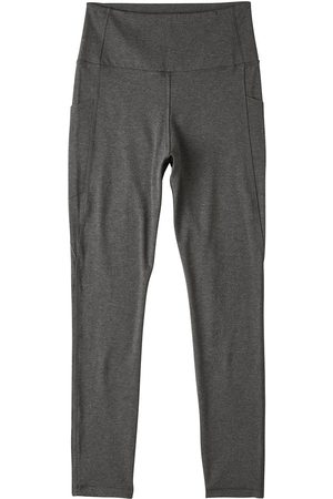 Women Stockings - Women's Organic Grey Cotton Motivate Full-Length High-Waist Tights Small Boody
