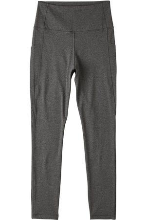 Women Stockings - Women's Organic Grey Cotton Motivate Full-Length High-Waist Tights XS Boody