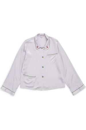 Women Sweats - Women's lilac Silk Ruthie Top In Small Morgan Lane