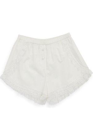 Women Sweats - Women's White Cotton Nessa Short Large Morgan Lane