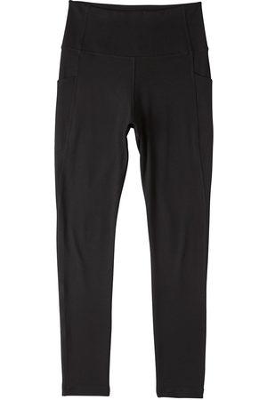 Women Stockings - Women's Organic Black Cotton Motivate Full-Length High-Waist Tights XS Boody