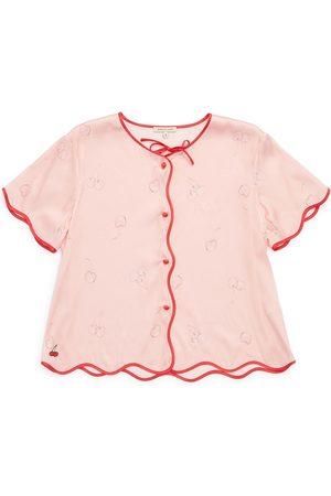 Women Sweats - Women's Pink/Purple Silk Beatrice Top Small Morgan Lane