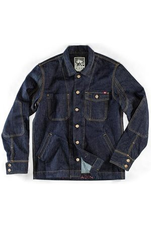 Men's Blue Canvas & sons Ryder Hardwear Denim Jacket Small & SONS Trading Co