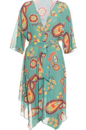 Women Kimonos - Women's Green Aulala X Moon Artistic Kimono - Sunflower Aulala Paris
