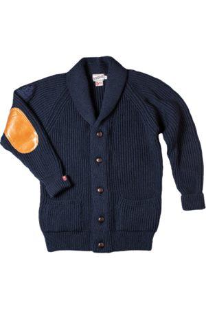 Men's Navy Wool & sons Pioneer British Cardigan XL & SONS Trading Co