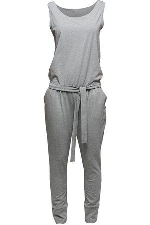 Women's Artisanal Grey Cotton Non175 Sleeveless Jumpsuit Large NON+