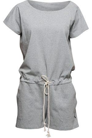 Women Jumpsuits - Women's Artisanal Grey Cotton Non204 Short Jumpsuit Medium NON+