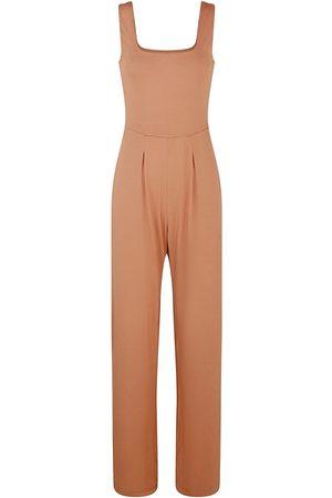 Women's Artisanal Natural Cotton Sierra Square Neck Jumpsuit XL GUARDI