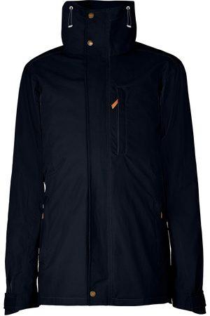 Men Outdoor Jackets - Men's Low-Impact Navy Brass The Wax Jacket In Large TROY London