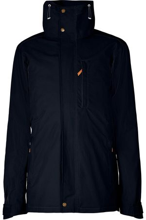 Men Outdoor Jackets - Men's Low-Impact Navy Brass The Wax Jacket In Small TROY London