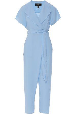 Women Jumpsuits - Women's Blue V-Neck Jumpsuit XXS Nissa