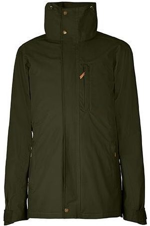 Men Outdoor Jackets - Men's Low-Impact Green Brass The Wax Jacket Large TROY London