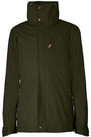 Men Outdoor Jackets - Men's Low-Impact Green Brass The Wax Jacket Medium TROY London