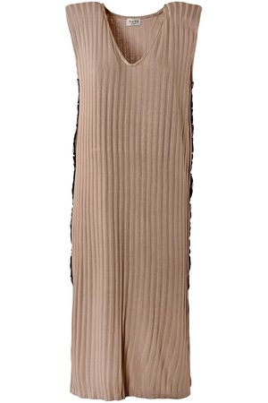Women's Low-Impact Natural Fabric Your Mark Neutral Ripped Jersey Midi Dress L/XL TIKTO