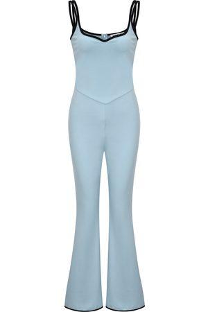Women's Blue Olivia Jumpsuit Medium AMY LYNN