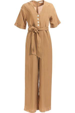 Women's Natural Cotton Inverloch Jumpsuit Camel Small búl